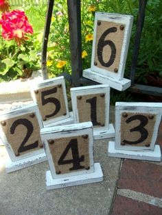 great idea for table numbers