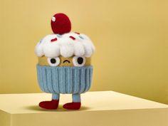 Jessica Dance transforms Jon Burgerman's characterful illustrations into 3D woollen sculptures