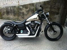 Alamel's Harley Street Bob fitted with the extended length Voodoo Fender. | Rocket Bobs