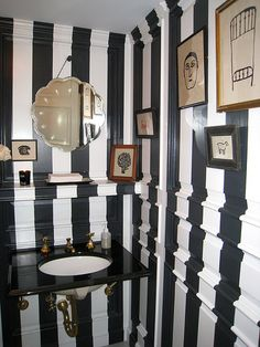 Eclectic everything.......unique & lively...what not?   J.Crew Collection Store Bathroom