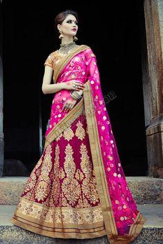 Beige net Lehenga Choli Avec Maroon Art Silk Dupatta Conception no- DMV7278 Prix- 359,53 € Type de robe: Lehenga Tissu: Net Couleur: Beige Décoration: brodé, Resham, pierre, Zari Pour plus de détails: http://www.andaazfashion.fr/womens/lehenga-choli/occasion/bridal-wear-lehenga-choli/beige-net-lehenga-choli-with-maroon-art-silk-dupatta-dmv7278.html