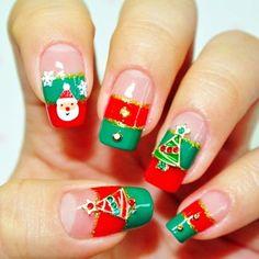 cute nails design for xmas