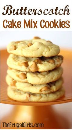 Butterscotch Cake Mix Cookie  -- Quick and easy and oh so tasty! Will definitely make these again. :)