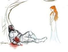 "SanSan - Judge.  I'm pretty certain that Sandor, abandoned by Arya and watching the life slowly drain out of him, must have had more than a few conversations with a Fever Dream Sansa.  I'm sure his biggest regret is NOT that he didn't do enough to save her, but that she agrees with him. Sandor Clegane and Sansa Stark from J.R.R. Martin's ""A Song of Ice and Fire""."