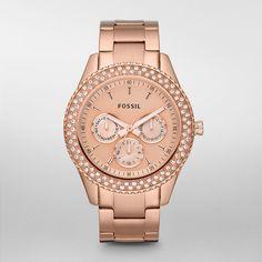 Fossil Stella rose gold watch