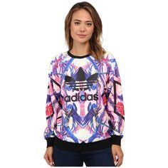 adidas Originals Optic Bloom Sweater Women's Sweater ($70) ❤ liked on Polyvore