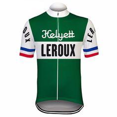 Retro Helyett Leroux Pro Cycling Jersey