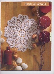 Round Hearts Crochet Doily Pattern