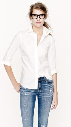 white shirt  jeans- perfection