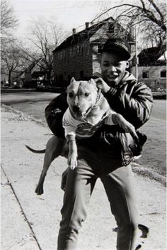 """Chicago, from the """"Black Trans-Atlantic Experience Project"""" Invention Of Photography, Chicago Museums, Black Trans, American Photo, American Pitbull, Real Dog, Chicago Photos, Man And Dog, Contemporary Photography"""