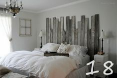 recycled-fence headboard-18....but barn wood planks would work GREAT too!