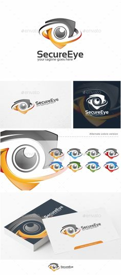 Secure Eye / Camera  - Logo Design Template Vector #logotype Download it here: http://graphicriver.net/item/secure-eye-camera-logo-template/12925329?s_rank=546?ref=nexion