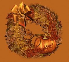 Animated Gif by JoanBlalock Thanksgiving Greetings, Thanksgiving Wreaths, Autumn Wreaths, Thanksgiving Quotes, Halloween Gif, Halloween Images, Holiday Poems, Holiday Gif, Holiday Decor