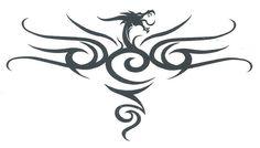 DRAGON TRIBAL DESIGN Temporary Tattoo | eBay