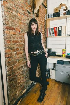 Rocker chic // See more at Racked: (http://ny.racked.com/2015/5/7/8548279/in-god-we-trust-working-it?utm_campaign=ny.racked&utm_content=feature&utm_medium=social&utm_source=pinterest)