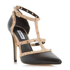 DUNE LADIES DAENERYS - Studded High Heel Court Shoe - black | Dune Shoes Online