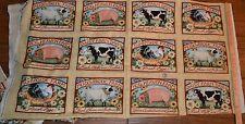 """Licensed Susan Winget CP40092 Hog Heaven Block Pattern 3 Rows Approx. 24"""" X 45"""""""