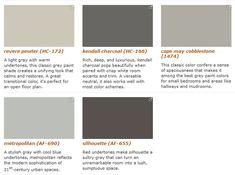 Benjamin Moore Five Favorite Grays - look here Benjamin Moore Abalone, Revere Pewter Benjamin Moore, Benjamin Moore Paint, Interior Paint Colors For Living Room, Paint Colors For Home, House Colors, Interior Painting, Interior Colors, Exterior Gray Paint