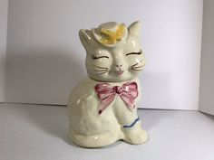 Vintage Shawnee Patented Puss 'N Boots Cookie Jar USA Cat with Hat