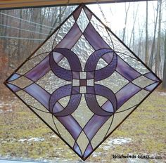 Hey, I found this really awesome Etsy listing at https://www.etsy.com/listing/176055985/stained-glass-panel-diamonds-in-violet