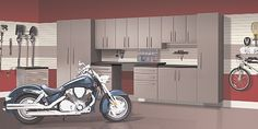 Garage Storage Systems, Garage Storage Cabinets, and Flooring. Storewall slatwall and wall accessories as well!