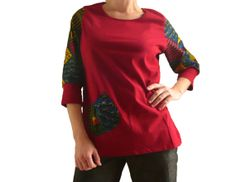Organic & African Print TShirt with Pocket  by IOGoods on Etsy, $31.25