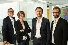 Drei Männer, eine Frau. Wäre cool, wenn unser künftiger CCO auch eine Frau sein könnte.