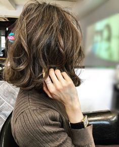 """Noriko """"To hair maintenance. Korean Perm Short Hair, Girl Short Hair, Permed Hairstyles, Easy Hairstyles, Medium Hair Styles, Short Hair Styles, Short Grunge Hair, Cute Simple Hairstyles, Hair Arrange"""