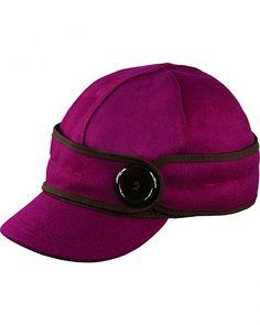 Stormy Kromer Women s Raspberry The Button Up Cap 059423ca7ee4