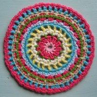 Crochet Mandala Wheel made by Thea, Netherlands, for yarndale.co.uk