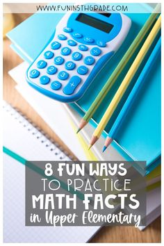 Set aside those boring math worksheets, here are 8 fun ways to practice math facts for upper elementary! You'll find a variety of ways to work on math facts including activities for in person or digital resources for use with Google to use at home. Think math games, puzzles, card games, interactive bulletin boards & active games, so many options & variety is KEY!