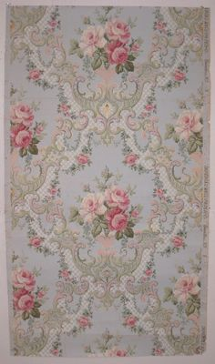 Beautiful Antique 19th Century American Floral Wallpaper