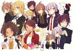"For naegiri it's more ""genderbend"" Danganronpa Game, Danganronpa Characters, Byakuya Togami, Makoto Naegi, Danganronpa Trigger Happy Havoc, Pokemon, Familia Anime, Anime Art, Fan Art"
