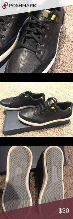 ed0cc2674dabec Cole Haan Owen Sport OX Black leather and suede trimmed. Dressy casual