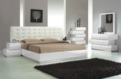 4 pc. Bedroom Set in White Finish at $1799 with Free Delivery in the Henderson/Las Vegas area.