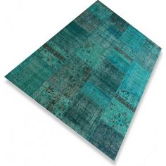 turquoise patchwork kleed
