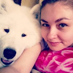 North & I  #North #puppy #samoyed #selfiethursday #самоед #white #black #dog #me #mydog #pets_selfie