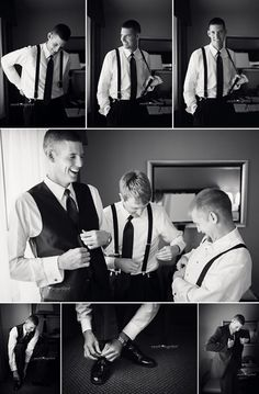 Cute getting ready photos for the #groom
