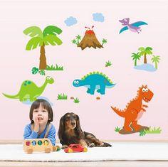 Dinosaur World Wall decal Removable stickers kids nursery decor home art mural  //ebay shop:http://stores.ebay.com/leyintzonline