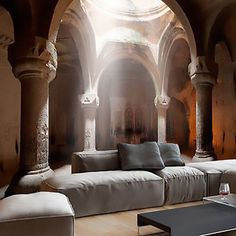 Effektvolle Wand- und Raumgestaltung mit Fototapete cool room design with photo wallpaper for modern living room with wood flooring, modern coffee table white and upholstered sofa gray Cool Room Designs, Living Room Designs, Wall Design, House Design, 3d Wall Murals, Mural Art, Interior Decorating, Interior Design, Home Wallpaper