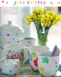 Cath Kidston Come British summer time there's nothing like indulging in a little bit of chintz fun and Cath Kidston is the perfect brand to deliver such a craving. Remember how Lonny featured Kidston's UK home? Well if you enjoyed that story, be sure to have a flick through theCath Kidston Magazine. I need to jump into my sewing box, get out my brightest fabrics and whip up a little polka dot fun!