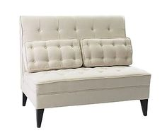 Sofá en madera de álamo, lino y algodón Turner