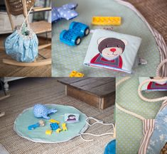 DIY-Spielzeugtasche und -Spieldecke zum Selbernähen - Kids Blog by Galeria Kaufhof Sewing For Kids, Baby Sewing, Diy Toys, Presents, Kids Rugs, Entertaining, Blog, Blanket, Creative