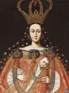 signorcasaubon:  La Virgen de Belen (detail), at the Los Angeles County Museum of Art; 18th century