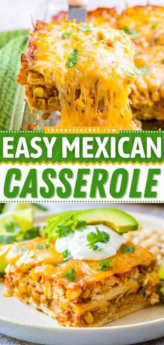 Want the perfect dinner for Mexican night? Learn how to make Mexican Casserole! With cheesy layers of chicken, veggies, beans, and corn tortillas, this easy casserole recipe is such a warm and filling comfort food! Mexican Chicken Casserole, Beef Casserole Recipes, Winter Dinner Recipes, Easy Dinner Recipes, Easy Recipes, Cooking Recipes, Everyday Food, Side Dish Recipes, Mexican Night
