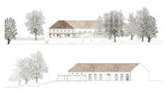 Engere Wahl: Ansicht und Schnitt, © Schoener und Panzer Architekten