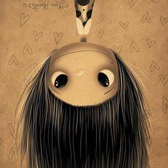 Good Morning Good Night, Day For Night, Ballerina Art, Girl Sketch, Love Wallpaper, Cute Faces, Heart Art, Hair Designs, Cute Drawings