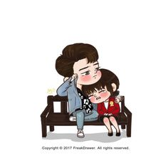 Love Cartoon Couple, Chibi Couple, Cute Love Cartoons, Cute Couple Art, Anime Love Couple, Fight My Way Kdrama, Kpop, Cute Couple Wallpaper, Chibi Characters