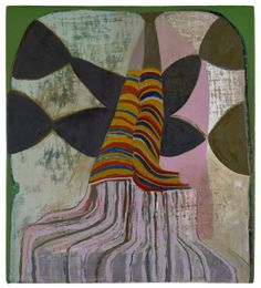 'The Clean Out (Fairy)' by NH-based American painter Lucy Mink. Oil on linen on wood, 10 x 9 in. via Painter's Progress Geometric Painting, Abstract Painters, Abstract Art, Color Pencil Art, Paintings I Love, Contemporary Paintings, Abstract Expressionism, New Art, Painting & Drawing