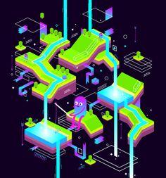 Dreamscape by Delfina Perez Adan, via Behance